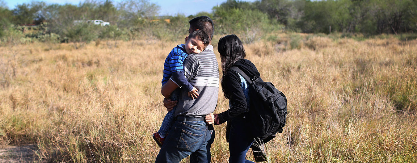 Family Crossing Border Mexican