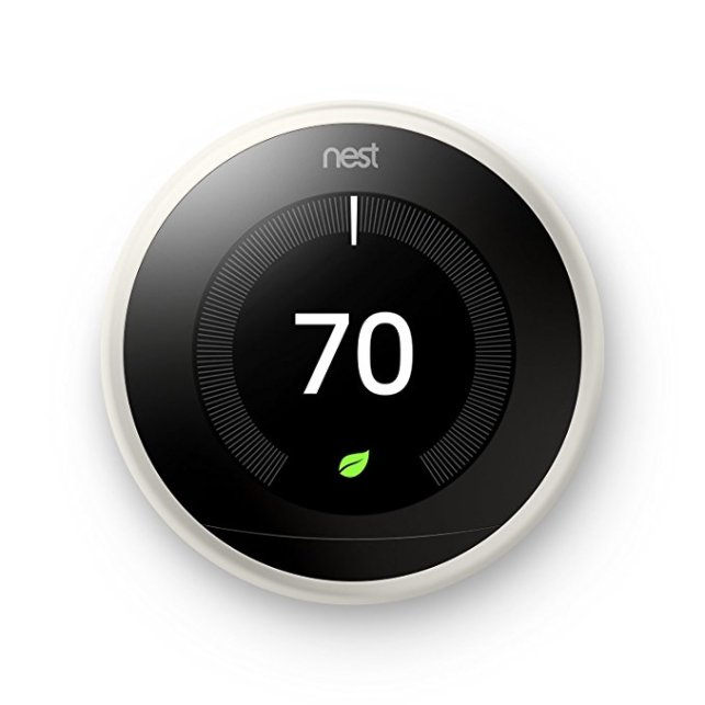 Normally $218, the Nest thermostat is 9 percent off (Photo via Amazon)
