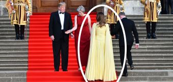 Melania Steps Out Of Presidential Limo At English Palace, Instantly Becomes A Queen