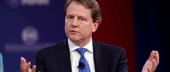Trump Insists McGahn Hasn't Turned, After NYT Reveals Top White House Lawyer Is Cooperating With Mueller