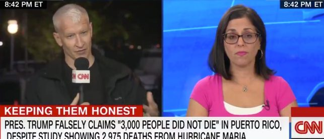Anderson Cooper Fails to Raise Key Facts Already Reported by CNN While Speaking to Daughter of Maria Victim