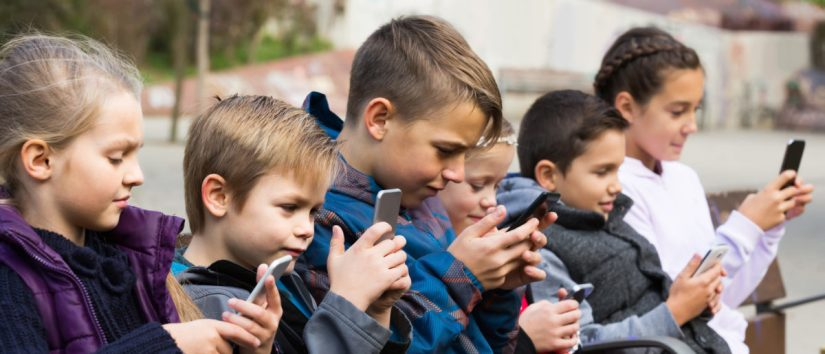 Image result for children staring into phones