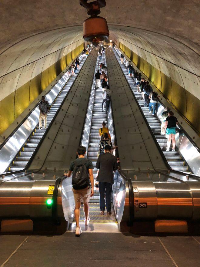 Woodley Park-Zoo / Adams Morgan Metro Station in Washington, DC, August 17, 2018. (Photo: DANIEL SLIM/AFP/Getty Images)