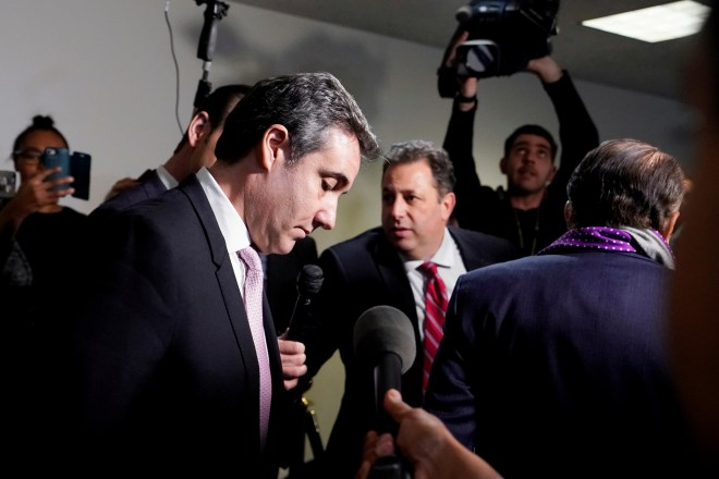 Former Trump personal attorney Michael Cohen departs after he testified behind closed doors before the Senate Intelligence Committee on Capitol Hill in Washington, U.S., February 26, 2019. REUTERS/Kevin Lamarque