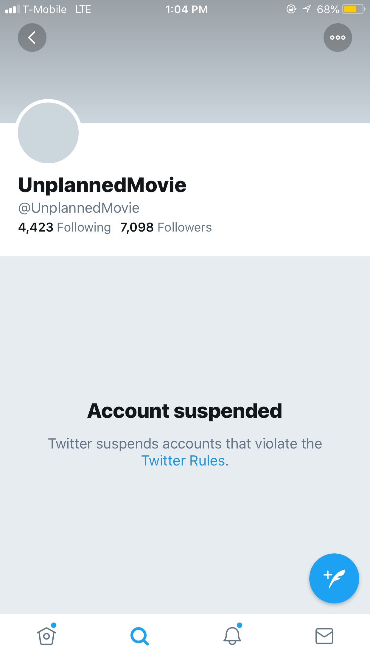 Unplanned Suspended Without Explanation Saturday Morning