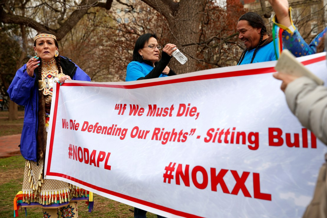 Indigenous leaders participate in protest march and rally in Washington