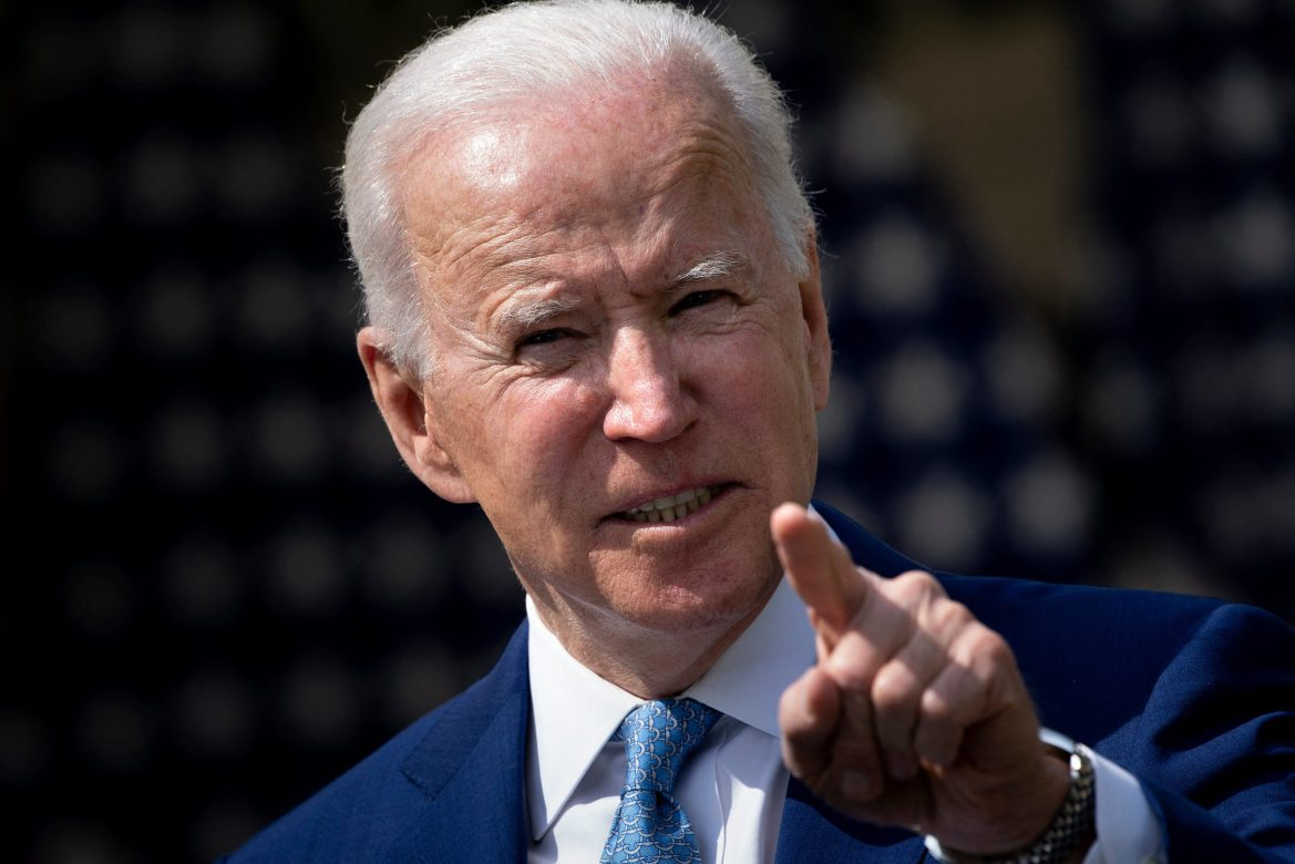 US President Joe Biden speaks from the Rose Garden of the White House about gun violence on April 8, 2021, in Washington, DC. - Biden on Thursday called US gun violence an