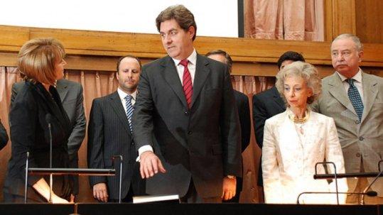 Foto de archivo. Juan Carlos Germignani jura en la Cámara de Casación Penal