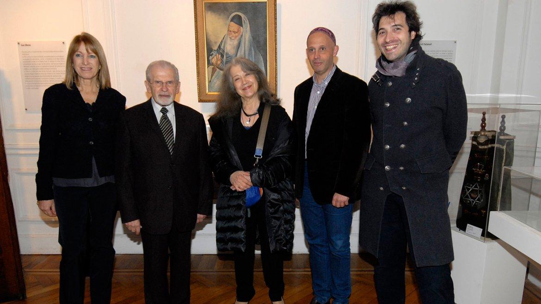 El rabino Shimon Moguilevsky, director del Museo Judío de Buenos Aires, junto a Martha Argerich y el rabino Sergio Bergman