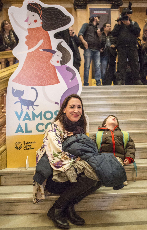 Malena Solda y su hijo