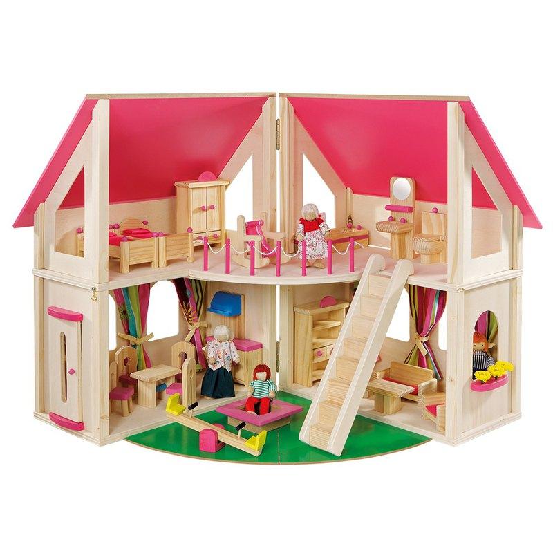 芝麻開門。可開合木製娃娃屋 - 設計師 howa 德國木製玩具   Pinkoi