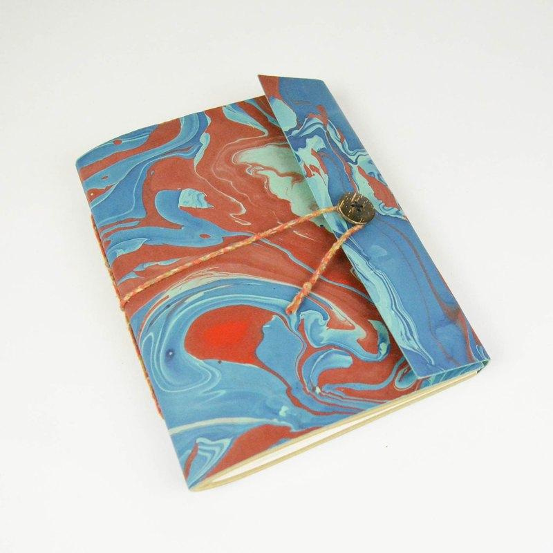 手工紙筆記本-血色海洋 _公平貿易 - 設計師 繭裹子TWINE | Pinkoi