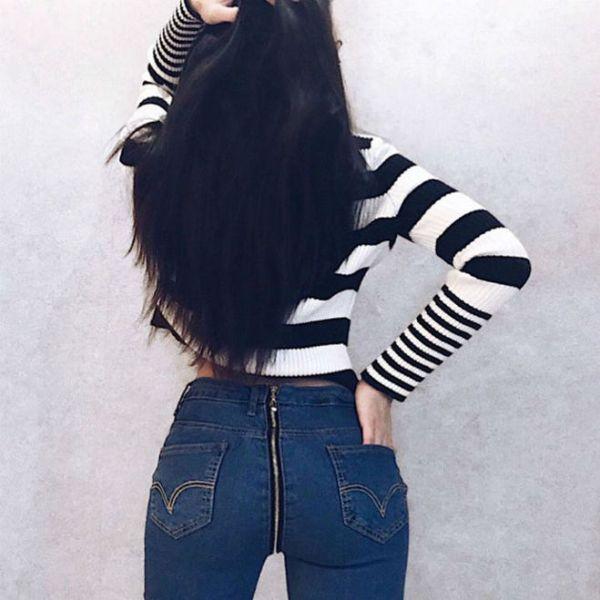 Как называются джинсы с молнией сзади на попе?