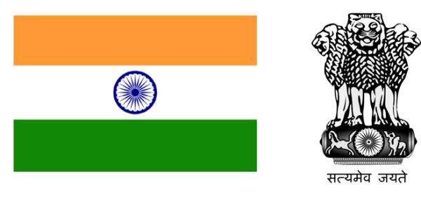 Как нарисовать флаг и герб Индии?