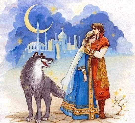 """Какую иллюстрацию нарисовать к """"Иван царевич и серый волк ..."""