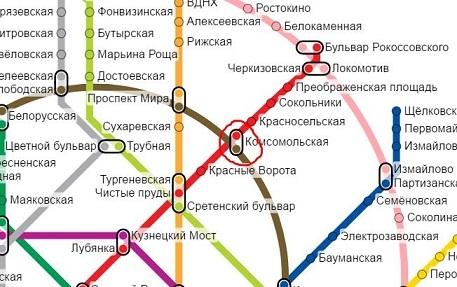 Возле какой станции метро находится Ярославский вокзал в ...