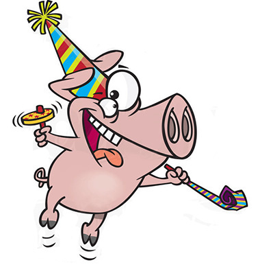 Смешные забавные картинки со свиньей поздравление с Днем ...