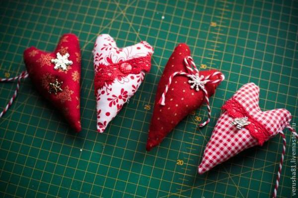 Как сшить новогодние елочные игрушки в стиле тильда ...