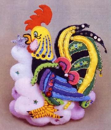 Bagaimana untuk menjahit A Rooster dalam bentuk Mittens