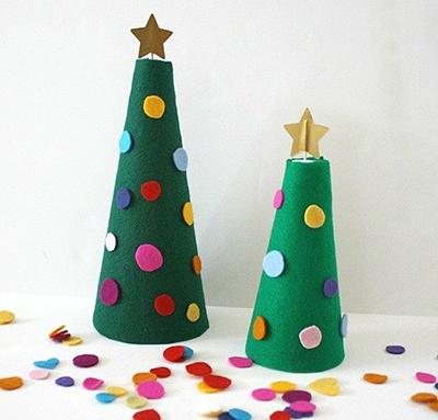 درخت کریسمس با دستان شما از احساس