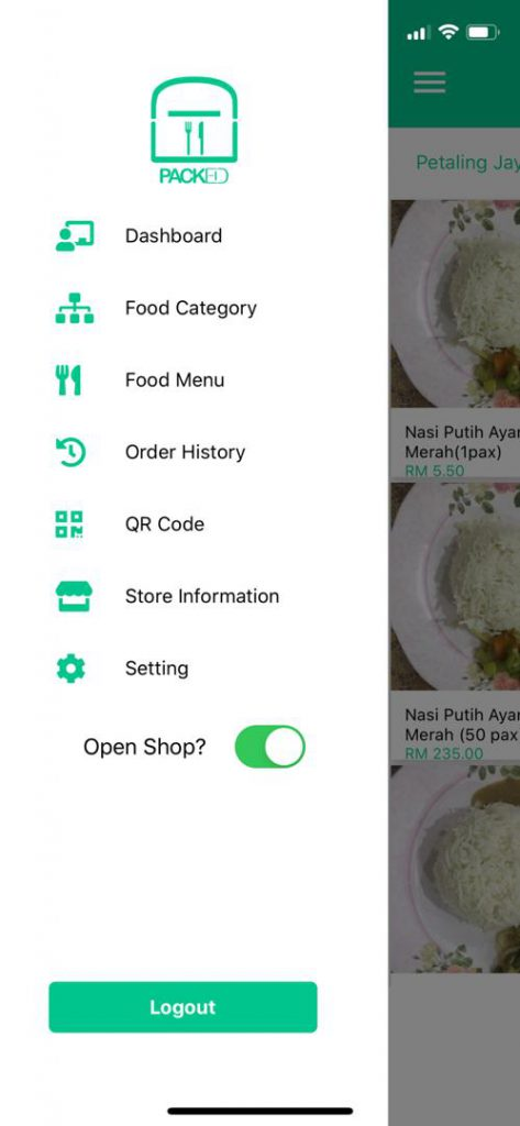 Malaysian F&B Delivery App For Street Food Vendors 2