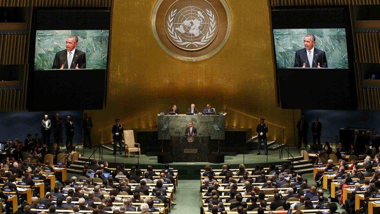 El presidente de los EEUU, Barack Obama, habla ante la Asamblea General de la ONU
