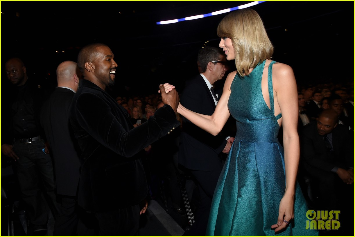 taylor swift kanye west make nice at grammys 2015 03