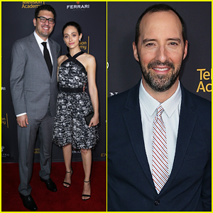 Emmy Rossum Supports Fiance Sam Esmail At Emmys Writers ...