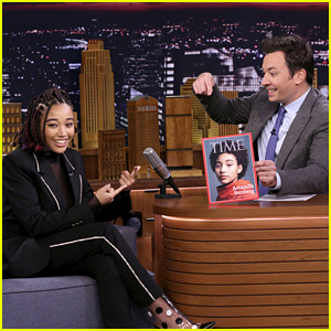 Amandla Stenberg Had an Awkward Moment at a Time's Up Meeting - Watch!