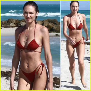 Candice Swanepoel Shows Off Her Hot Bikini Bod at the Beach in Miami