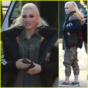 Gwen Stefani Hits the Recording Studio in Los Angeles!