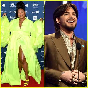 Adam Lambert Introduces Lizzo at GLAAD Media Awards in L.A.