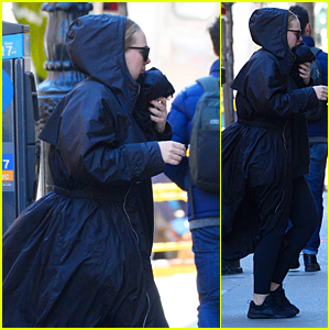 Adele Heads Into a Recording Studio in New York City