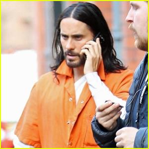 Jared Leto Wears Orange Jumpsuit on 'Morbius' Set