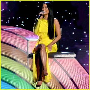 Kacey Musgraves Sits on a 'Rainbow' During iHeartRadio Music Awards 2019 Performance