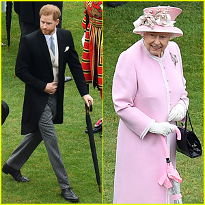 Prince Harry Joins Grandmother Queen Elizabeth at Buckingham Palace Garden Party!