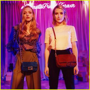 BFFs Emma Roberts & Amanda Seyfried Star in Fendi's Baguette Friends Forever Film
