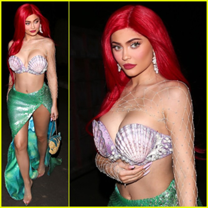 ¡Kylie Jenner se viste como la súper sexy Ariel de 'The Little Mermaid' para Halloween!