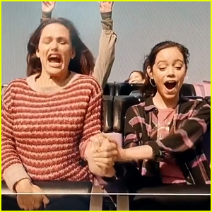 Jennifer Garner Screams on a Rollercoaster at Six Flags While Filming 'Yes Day' (Video)