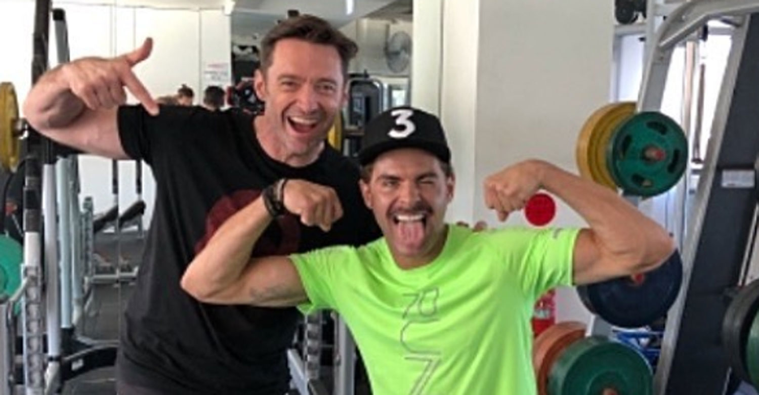Zac Efron Bares His Muscular Arms During Workout