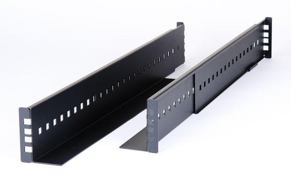 19 universal 2u schwerlast schienen heavy duty rackmount rack rails langenverstellbar adjustable 62cm 85cm