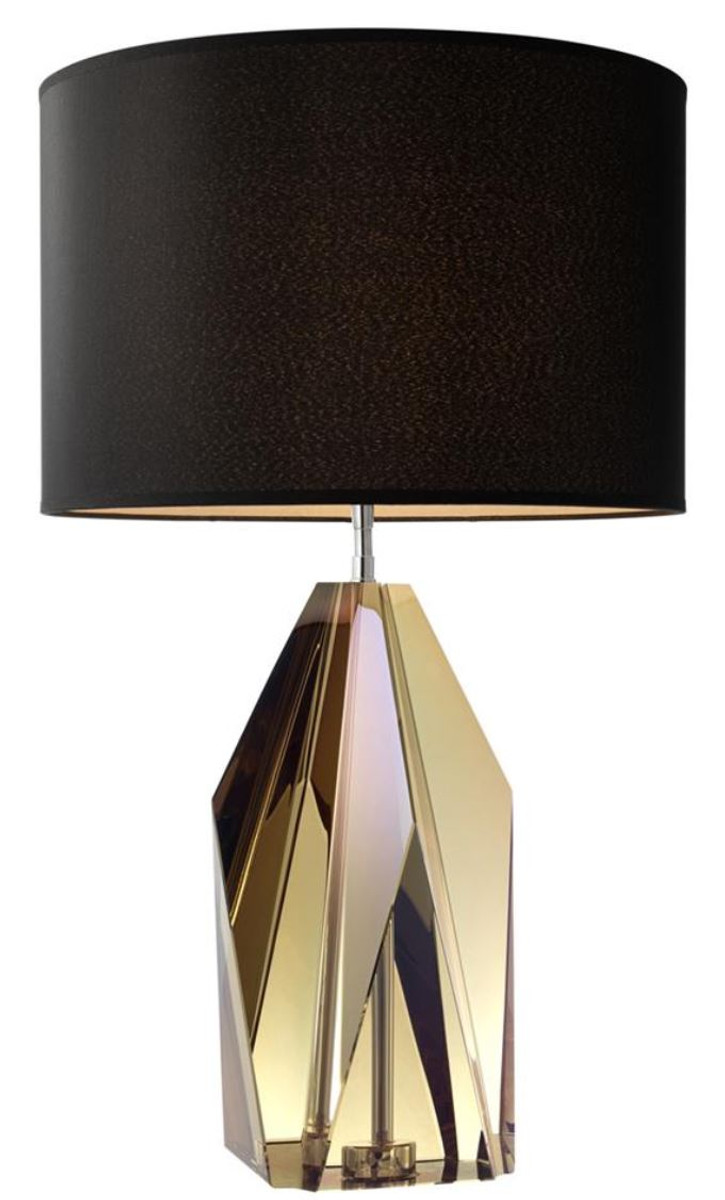 casa padrino luxury living room crystal glass table lamp table light hotel collection