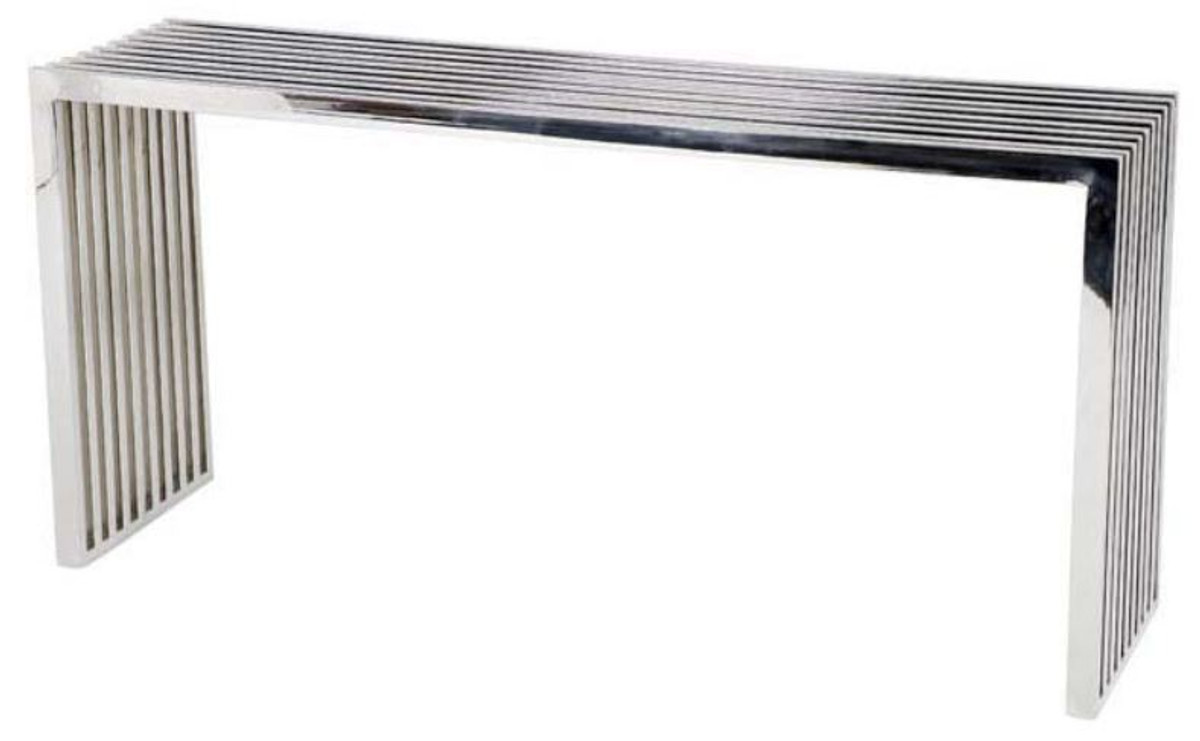 casa padrino luxury stainless steel console table 150 x 38 x h 73 cm designer furniture