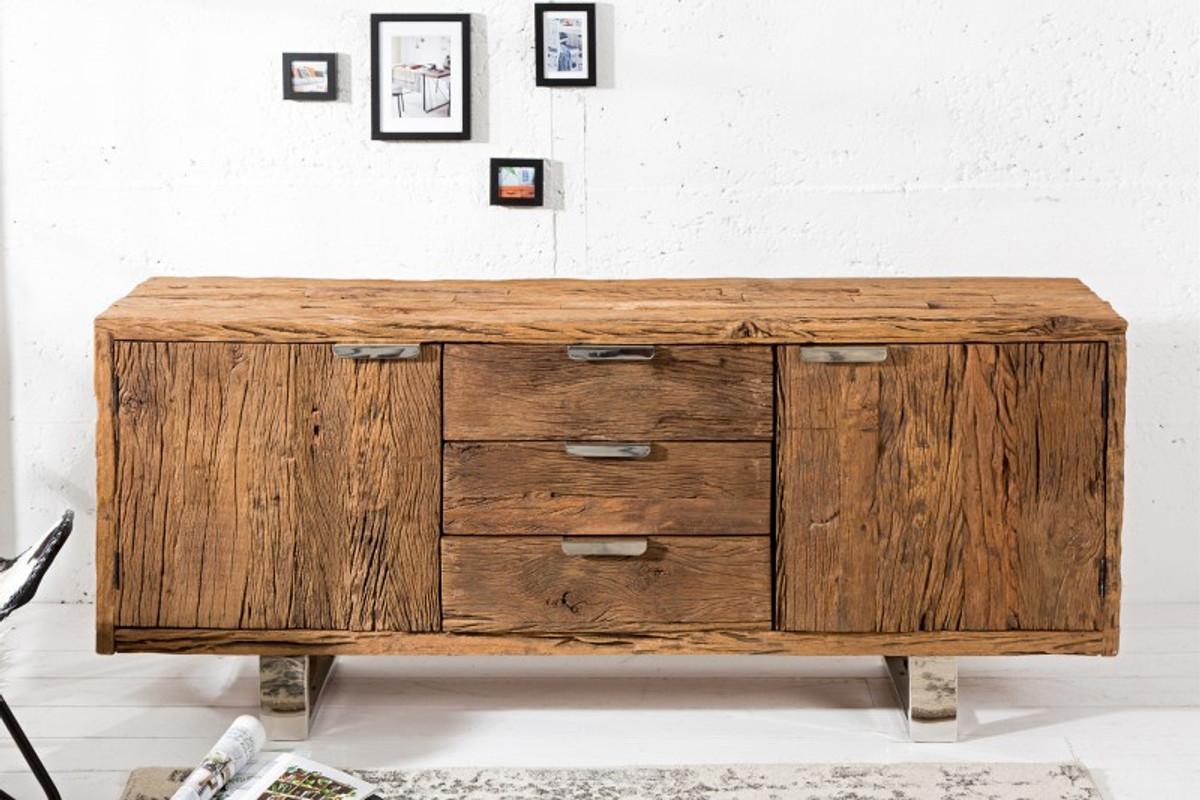 buffet de luxe casa padrino l 160 x h 75 x t 40 meuble tv commode fait a la main en bois massif