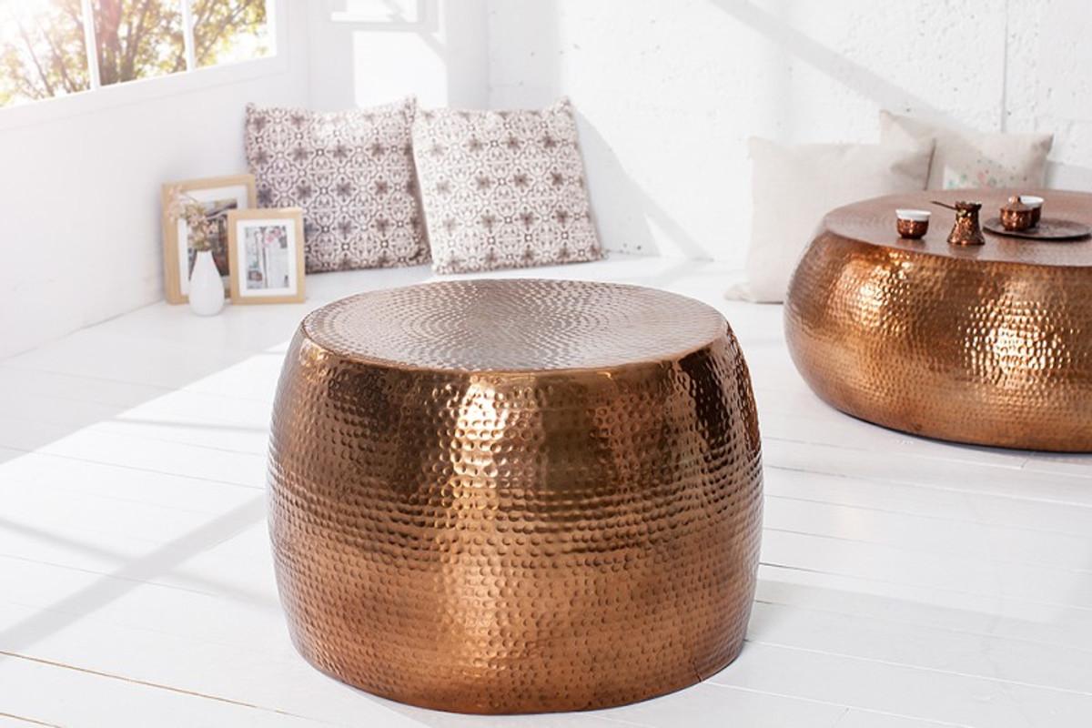 casa padrino luxury coffee table copper 60 cm aluminum living room saloon table unique