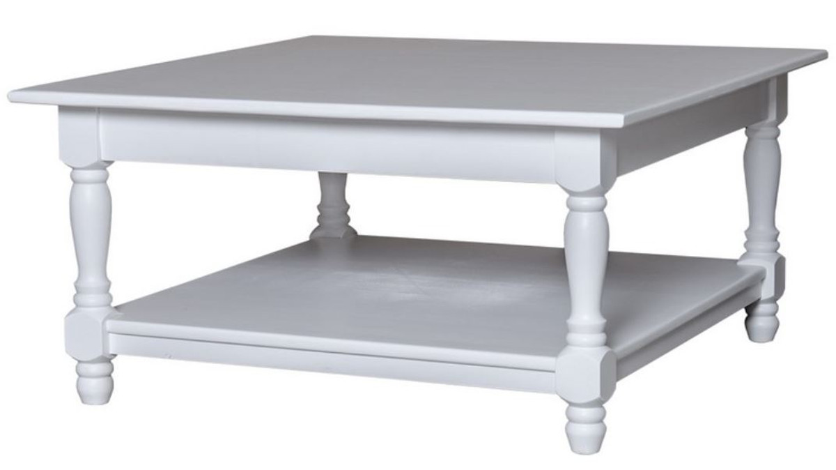 casa padrino country style coffee table white 90 x 90 x h 45 cm country style furniture