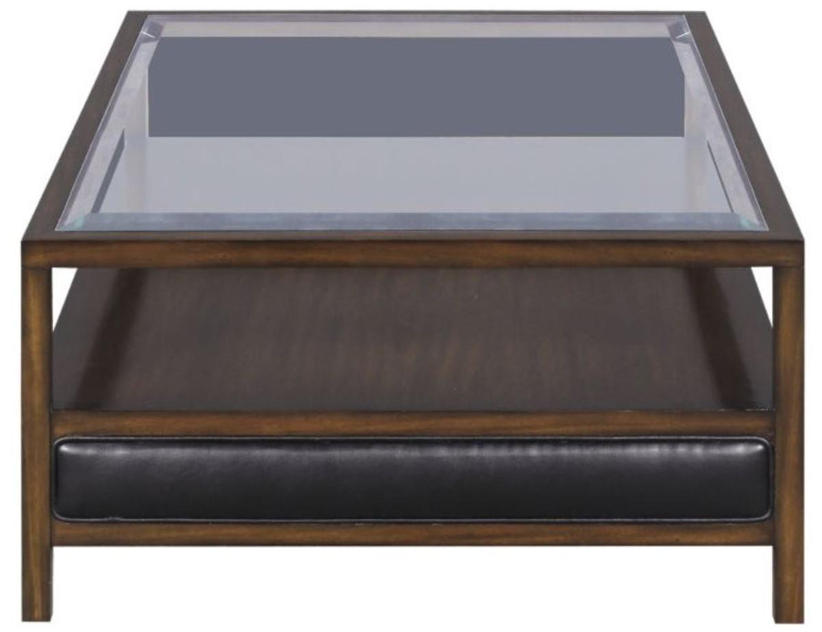 casa padrino luxury coffee table brown black 120 x 80 x h 41 cm mahogany living room table with 3 drawers