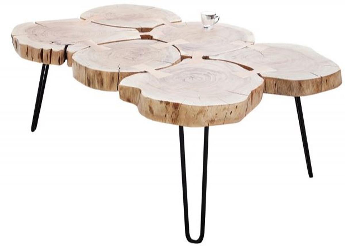 casa padrino table basse en bois massif design acacia naturel 115 x h 40 cm bois massif table de salon unique