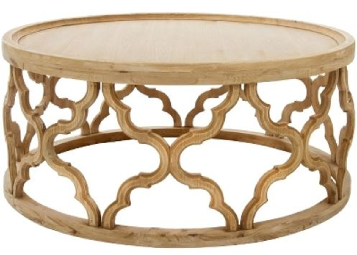 casa padrino designer coffee table natural colors o 80 x h 37 cm modern round wood coffee table