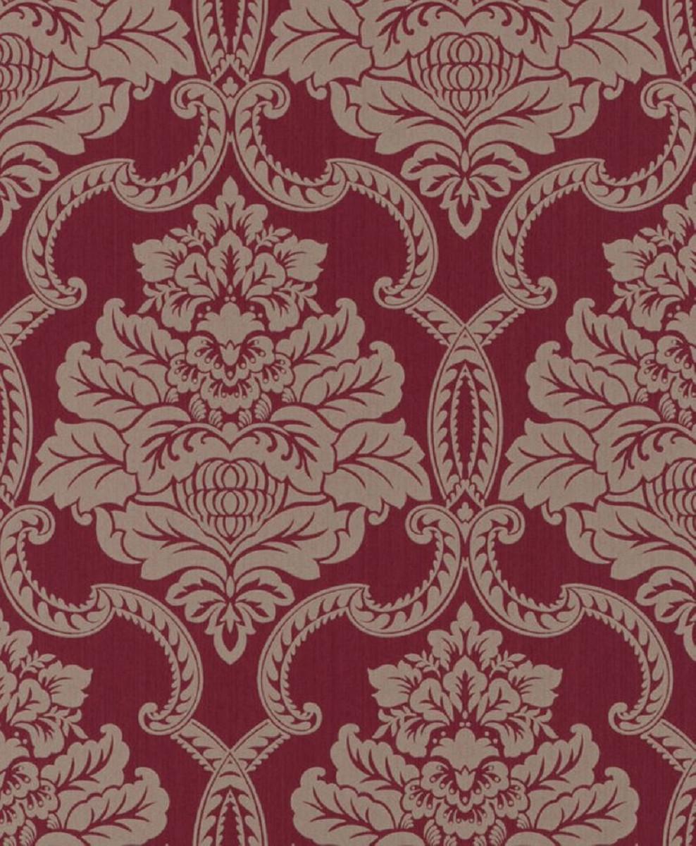 casa padrino papier peint textile baroque rouge 10 05 x 0 53 m papier peint baroque accessoires de decoration